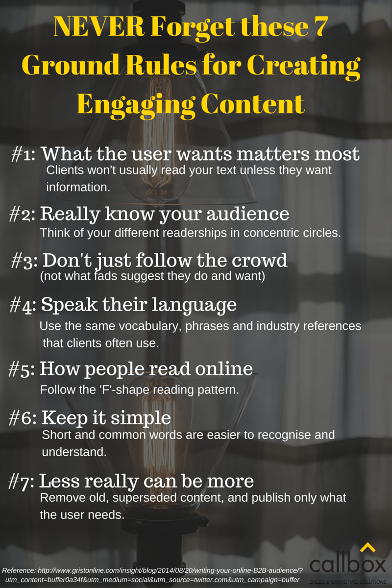 NEVER Forget these 7 Ground Rules for Creating Engaging Content